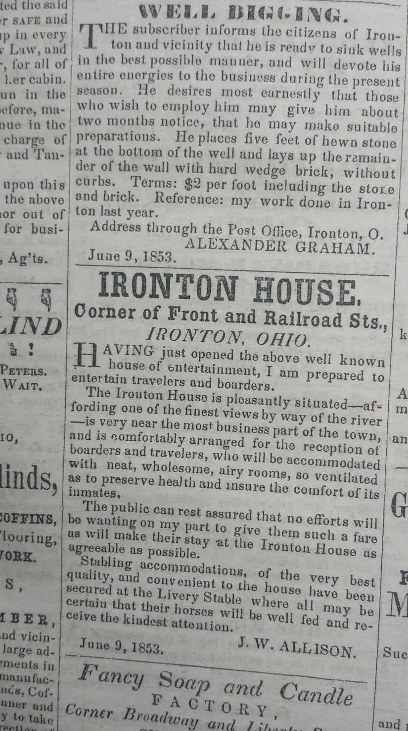 Ironton House article